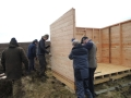 Small hut being built