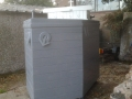 Ship shaped wheelie bin shelter