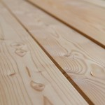 Planed larch Decking